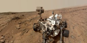 FILE - This photo released by NASA shows a self-portrait taken by the NASA rover Curiosity in Gale Crater on Mars. (AP Photo/NASA)